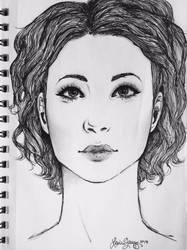 face sketch by princesszoggles