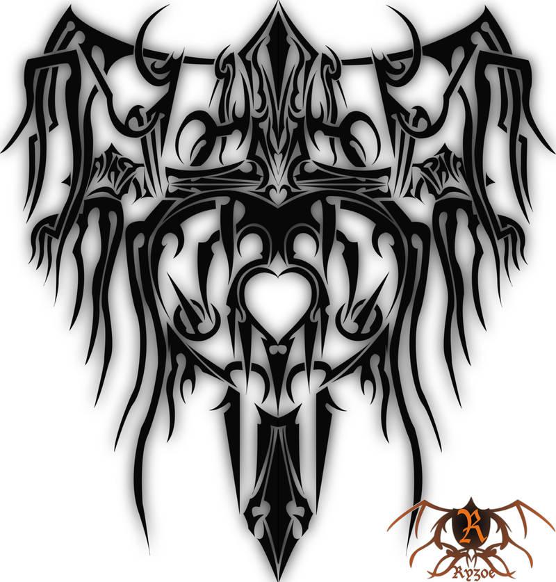 Tribal Heart Cross Wings By Ryzoe Kotagami On Deviantart