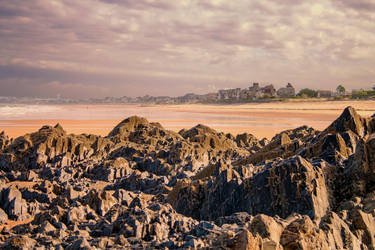 Beach of Granville Manche France by hubert61