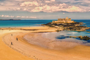 St. Malo1 beach Ille-et-Vilaine  France by hubert61