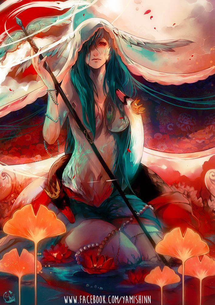 OC- Mandragora - Red moon by YamYami-Shin