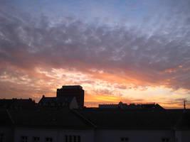 Sunset in Wiesbaden by MutantPiratePrincess