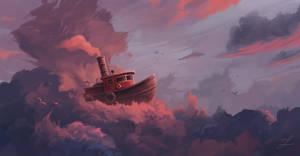 Cloudy Sea. by Zary-CZ