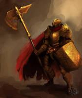 gold soldier by skaiChu