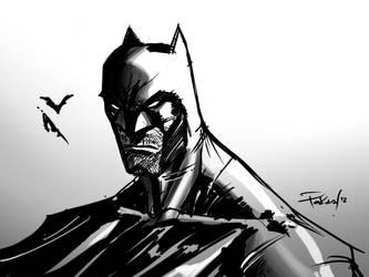 batman sketch by pokar17