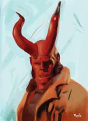 hellboy study by pokar17