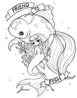 Friend to Fish by jemajema