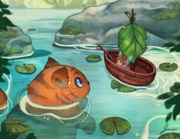 Leaf Boat by jemajema