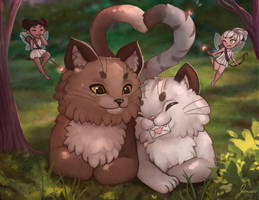 Valentines - Cat and fairies calendar! by jemajema