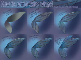 How to paint fairy wings tutorial :) by jemajema