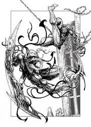 Spidey VS Symbiote by cizgi-reloaded