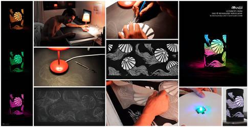 Making of lampshade jellyfish by kingsandji