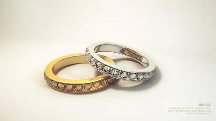 Golden and  silver bracelets by kingsandji