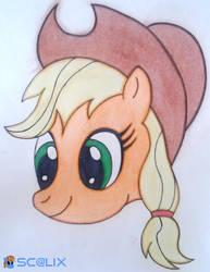 Applejack - Head by scalixcz