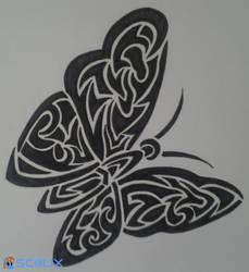 Tribal Butterfly by scalixcz
