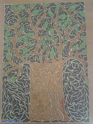 Tribal Tree by scalixcz