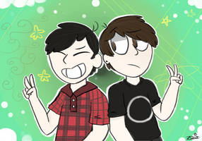 Dan and Phil by Blue-skiez