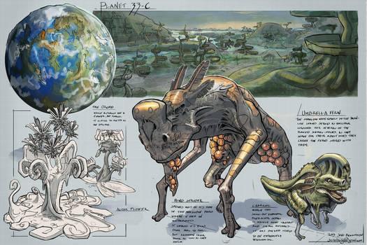SpaceExploration: Alien Planet 33-C by CaconymDesign