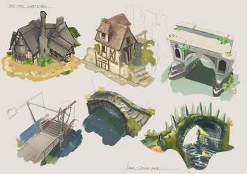 30 minute sketches - Week 3 Architecture by CaconymDesign