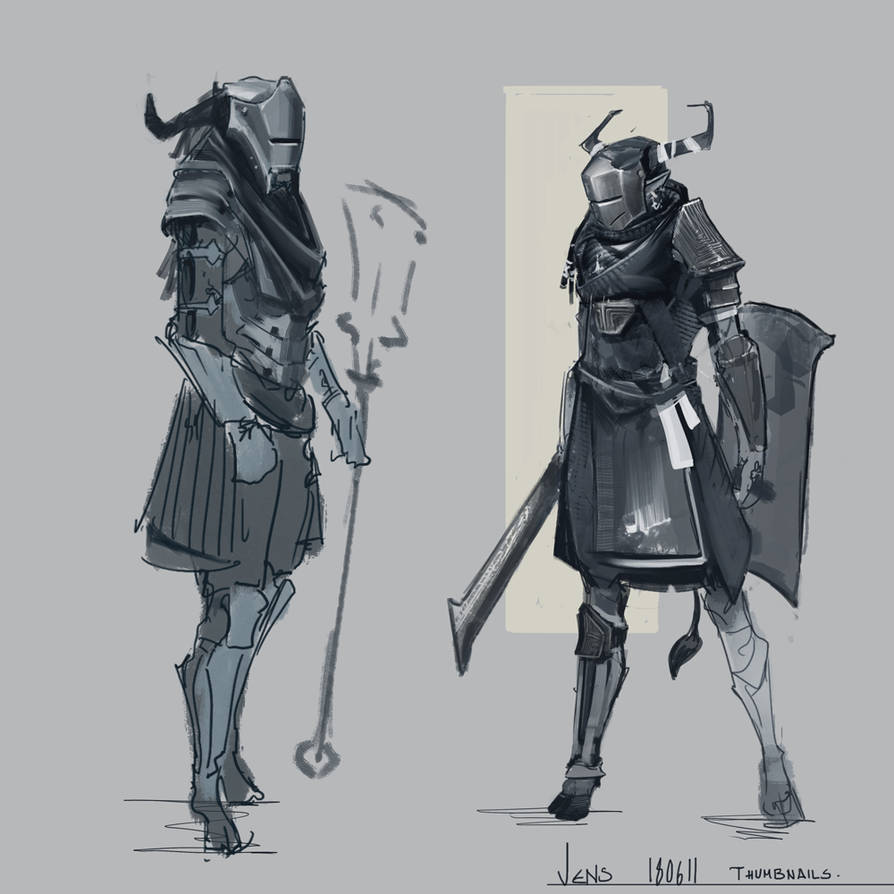 Knight pilot-sketches by CaconymDesign