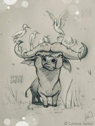 Day 7 - Cape Buffalo - by Loisa