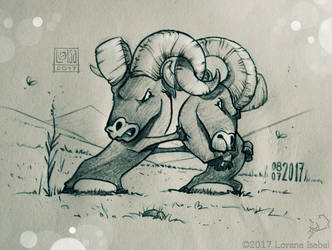 Day 8 - Bighorn Sheep - by Loisa