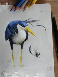 Heron by Loisa