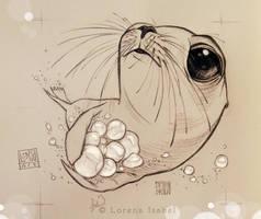 Sea lion' jewels by Loisa