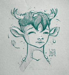 Young faun by Loisa