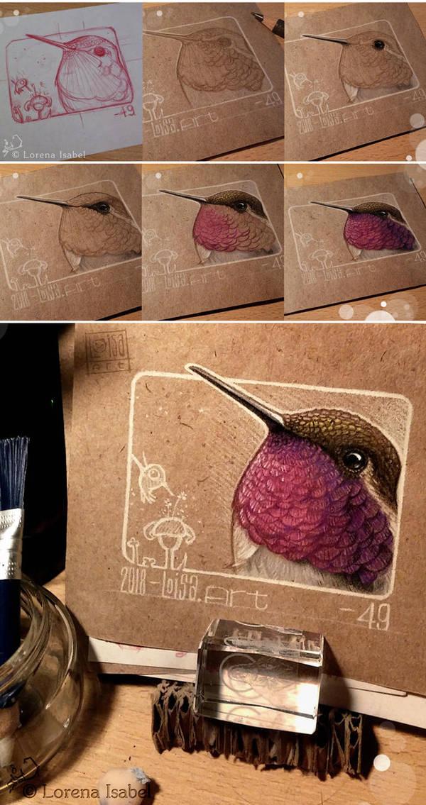 49 - Hummingbird (step by step) by Loisa