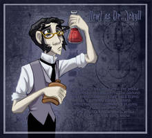 Newt as Jekyll trading card by Bilious