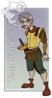 Discworld- Sam Vimes smokin' by Bilious