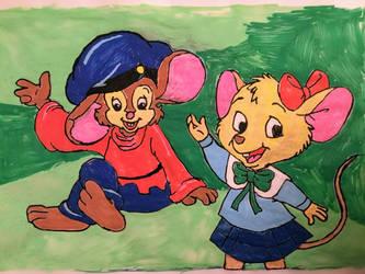 Two Cute Little Mouse Lovers by PurpleBeauty97