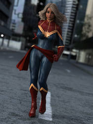 Captain Marvel Cosplay ID by TinyThea