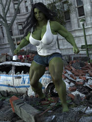 She-Hulk Cosplay by TinyThea