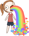 Vomit Hearts and Rainbows by kaoruli