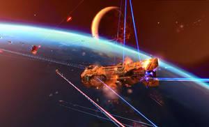 Battle Above Earth by OceanSama