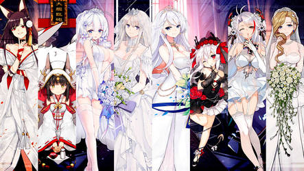 Azur Lane Wedding Costumes (Oath Skins) Thumbnail by RyuumaBrunestud