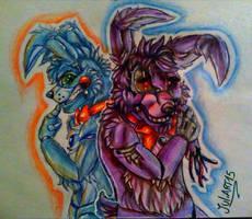 .:Why...:. W.Bonnie and T.Bonnie by JuliArt15