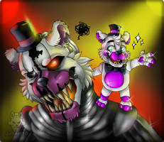 .:molten freddy and Helpy:. by JuliArt15