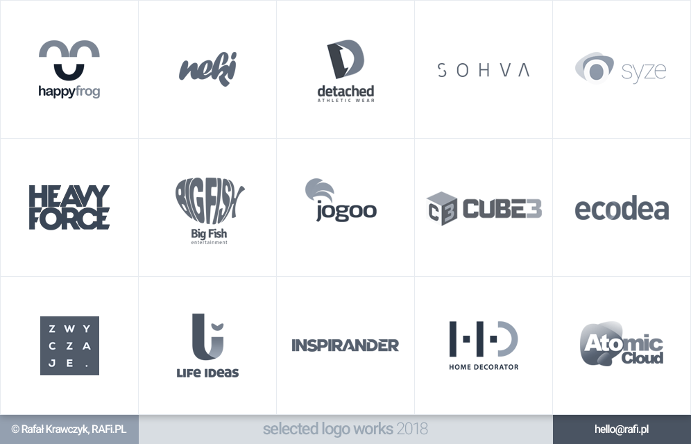 Logofolio - selected logo works 2018 by RAFi-PL