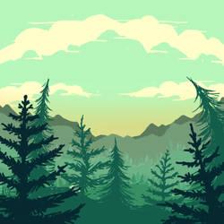 Deep forest by ren0mi