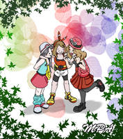 Leaf May and Serena by MJopaArtist