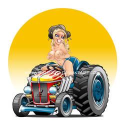 Aussie Tractor Girl by malberri