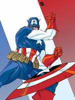 Colors Captain America by ljamalwalton