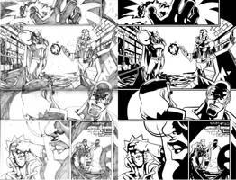 Ultimate Avenger Page 1 Inks by ljamalwalton