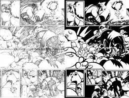 Ultimate Avenger Page 3 Inks by ljamalwalton