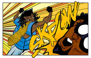2daX punches Captain Evil by ljamalwalton