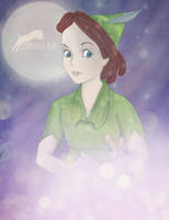 Wendy as Peter Pan. by Nikmarvel