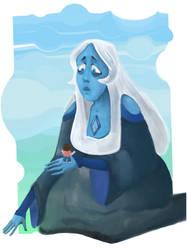 Blue diamond and Steven by voldemortsapprentice